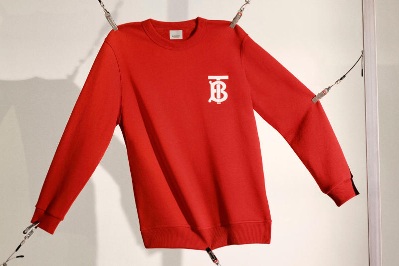 Burberry Riccardo Tisci B Series Red Logo Sweatshirt Polo Shirt