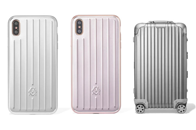 RIMOWA Releases Suitcase-Inspired Phone Cases Pink Silver Aluminium Release