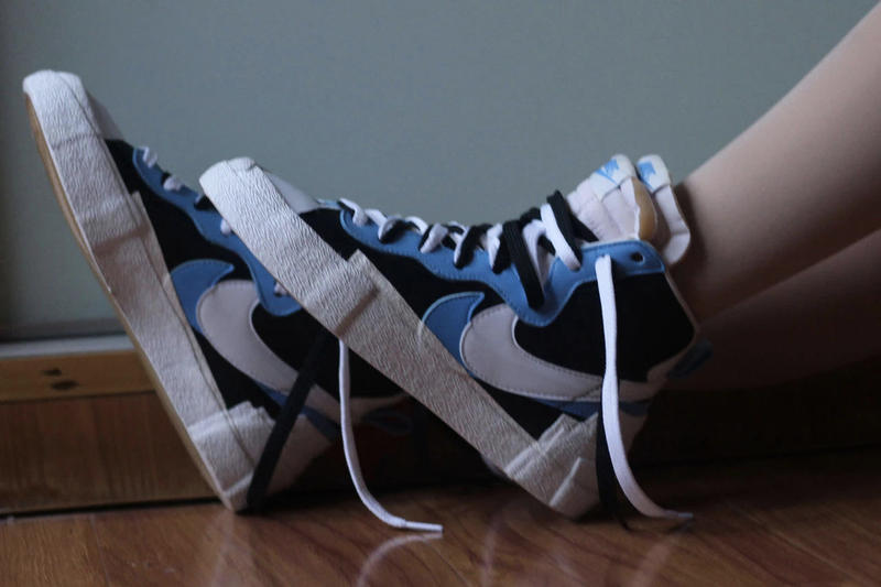 sacai x Nike Blazer With The Dunk Blue Black White