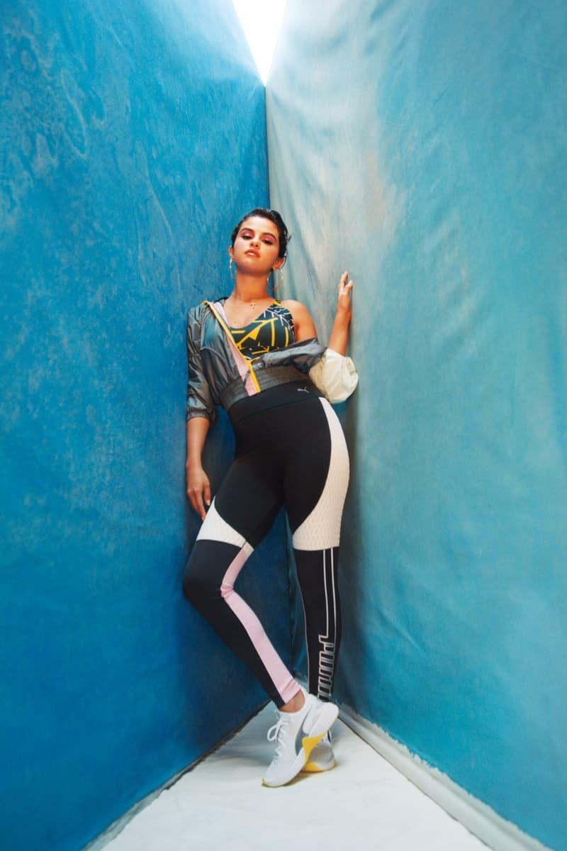 Selena Gomez PUMA DEFY TZ Campaign White Blazing Yellow