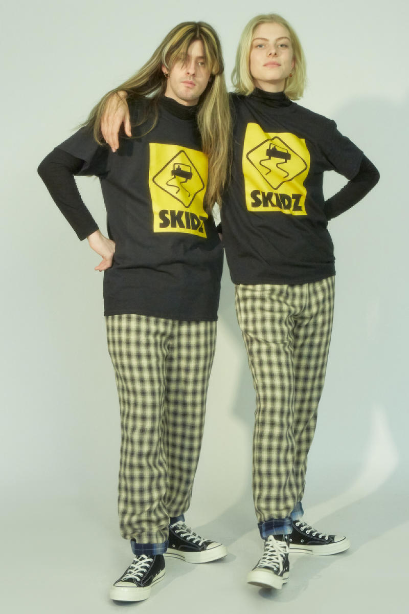 Opening Ceremony Skidz Capsule Collection Logo T-shirts Black Yellow Plaid Pants Tan Navy