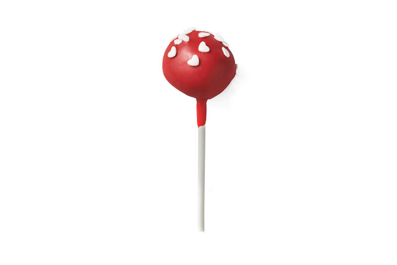 Starbucks Valentine's Day Cake Pop Red