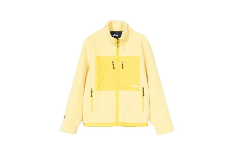 Stussy x GORE-TEX Sherpa Fleece Jacket Yellow