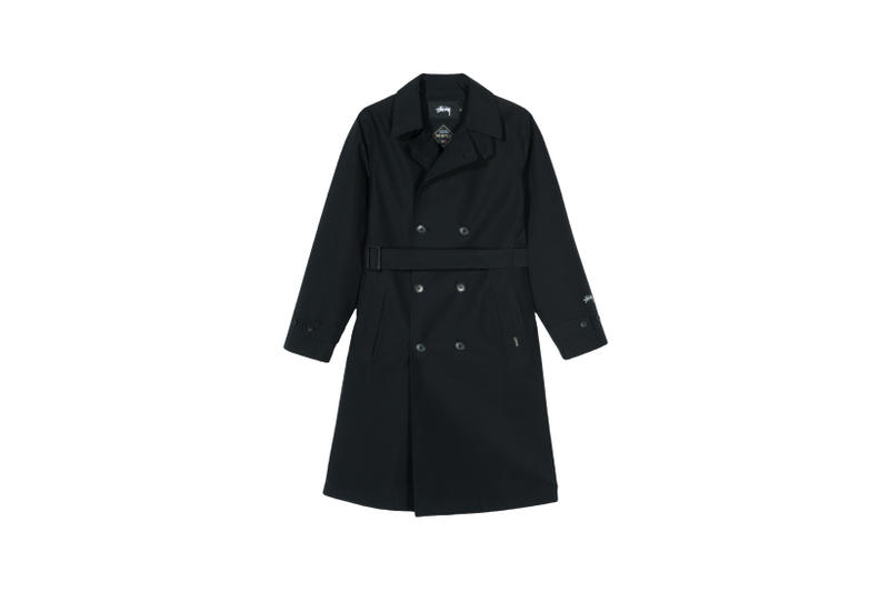 Stussy x GORE-TEX Down Trench Coat Black