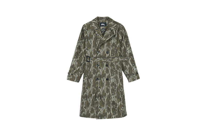 Stussy x GORE-TEX Trench Coat Camouflage