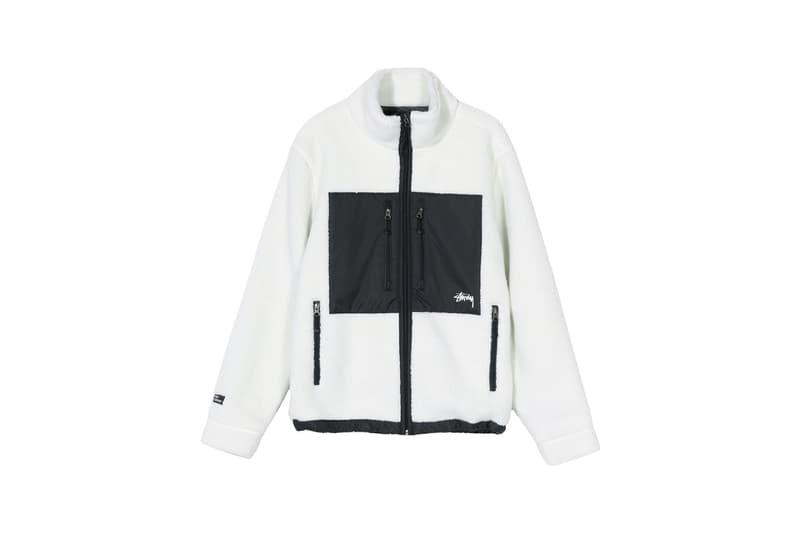 Stussy x GORE-TEX Sherpa Fleece Jacket White