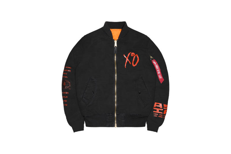 The Weeknd Asia Tour Merch Collection Bomber Jacket Black
