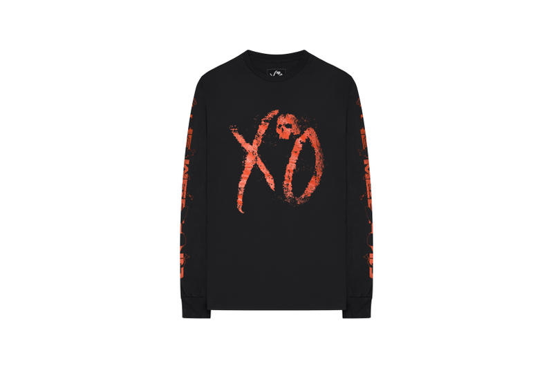 The Weeknd Asia Tour Merch Collection Long Sleeved T-shirt Black