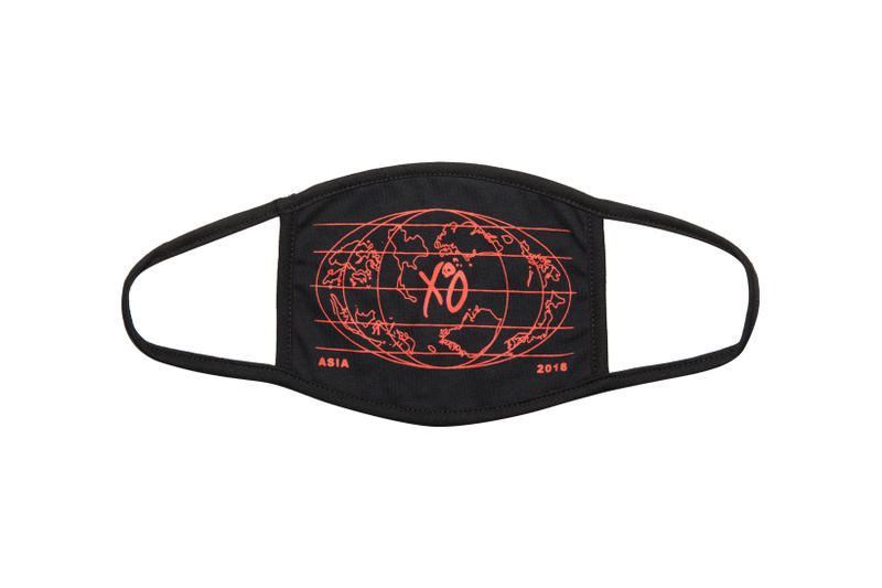 The Weeknd Asia Tour Merch Collection Face Mask Black Orange
