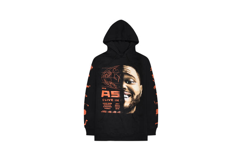 The Weeknd Asia Tour Merch Collection Hoodie Black