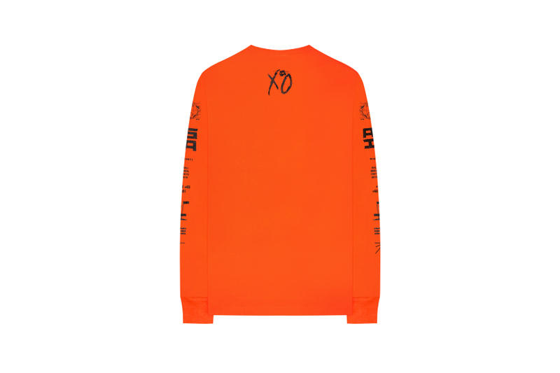 The Weeknd Asia Tour Merch Collection Long Sleeved Shirt Orange