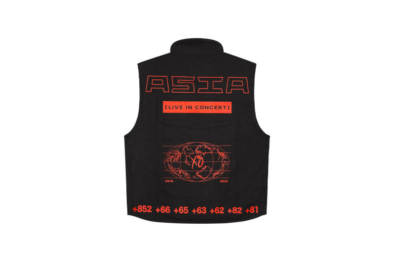 The Weeknd Asia Tour Merch Collection Vest Black