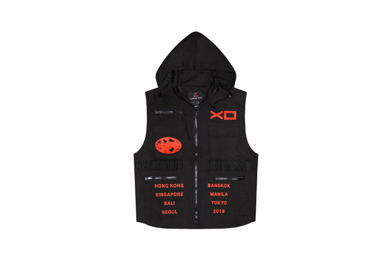 The Weeknd Asia Tour Merch Collection Hooded Vest Black