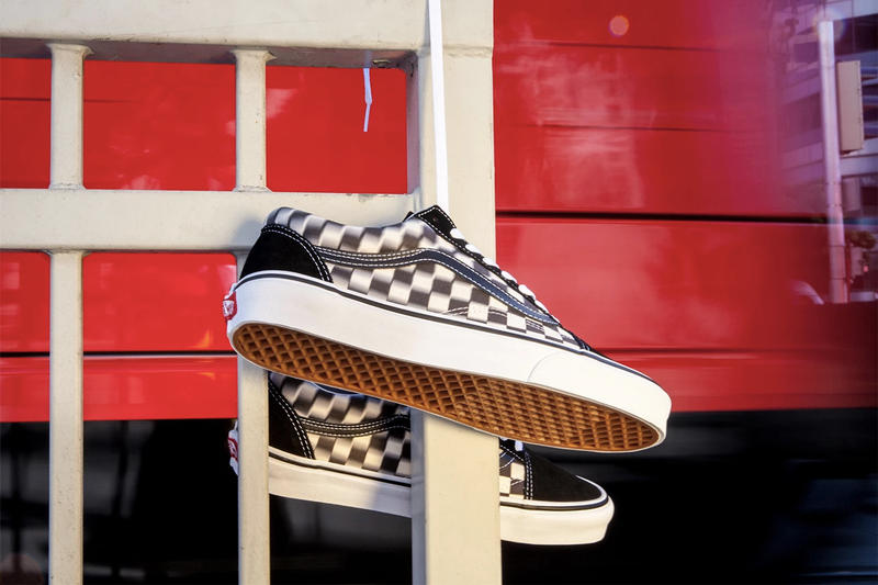 "Vans ""Blur Check"" Optical Illusion Collection Era Sk8-Hi Slip-On Old Skool Shoe Sneaker"