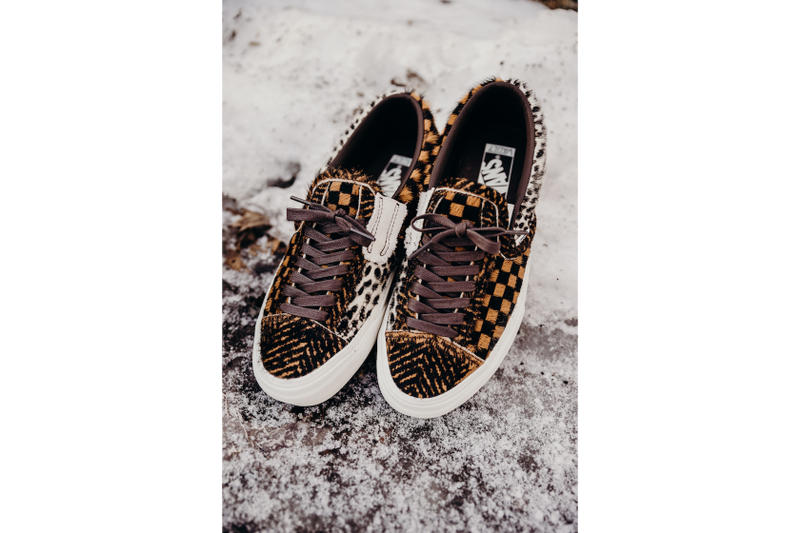 Vans Cut and Paste Pony Hair Pack Print Checkerboard Pattern Graphics Shoe