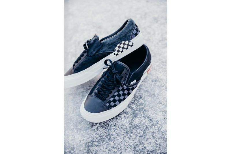 2312147fd082bd Vans Cut and Paste Pony Hair Pack Print Checkerboard Pattern Graphics Shoe