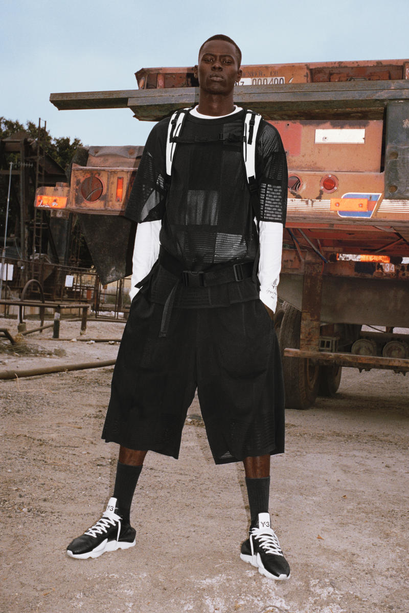Y-3 Spring Summer 2019 Campaign Shirt Shorts Black