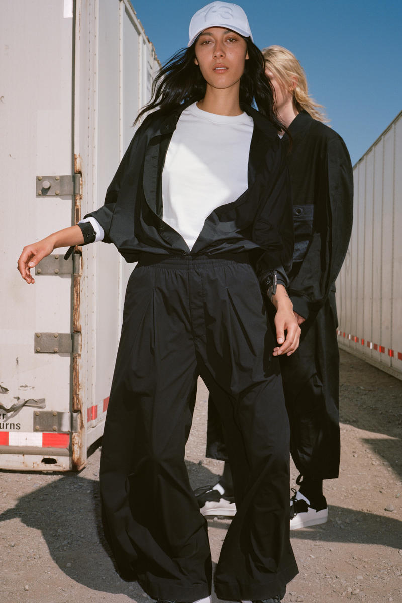 Y-3 Spring Summer 2019 Campaign Shirt White Jacket Pants Black