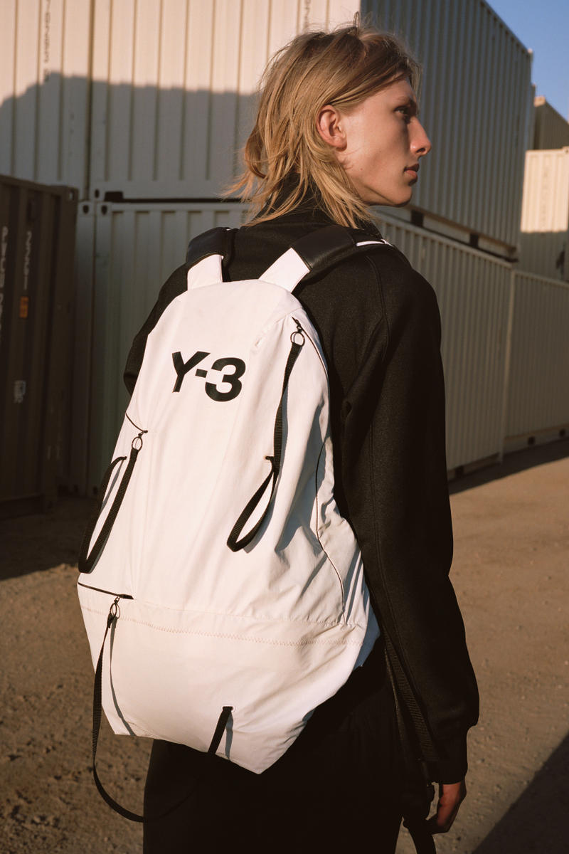 Y-3 Spring Summer 2019 Campaign Shirt Black Backpack White