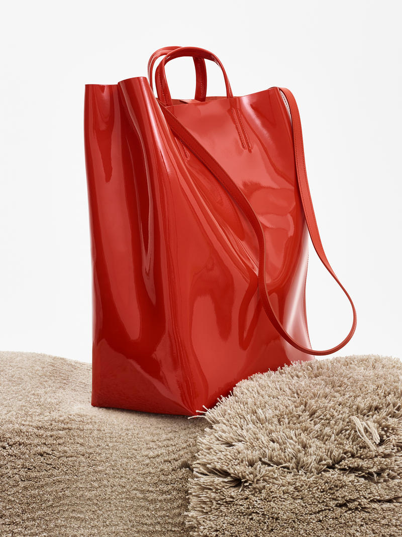 acne studios spring summer 2019 ss19 baker handbag bag red