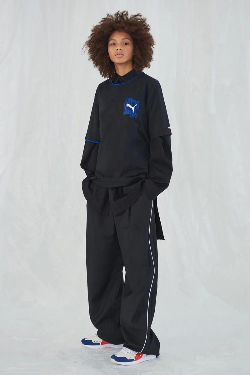 Ader Error x PUMA Spring Summer 2019 Lookbook Long Sleeve Shirt Pants Black
