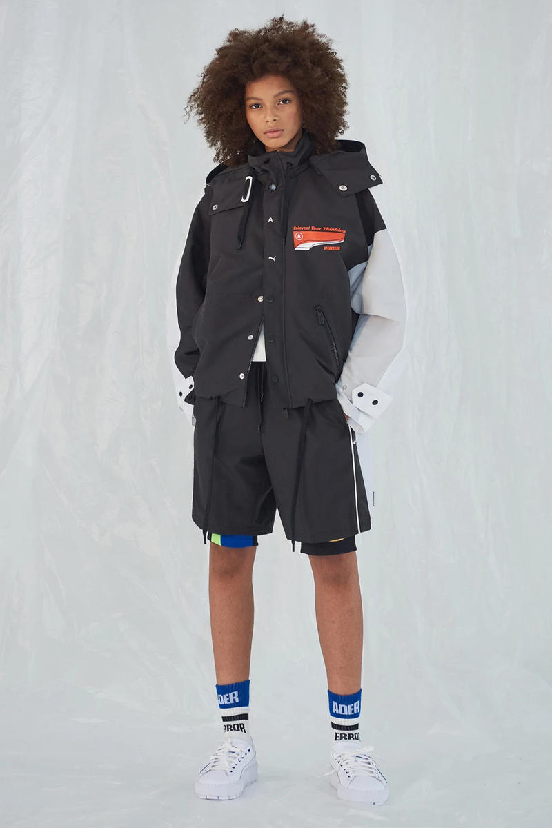 Ader Error x PUMA Spring Summer 2019 Lookbook Jacket Shorts Black