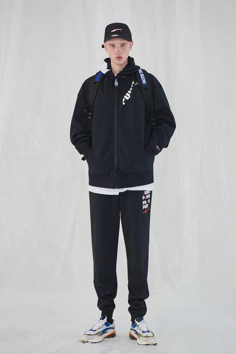 e90c10e96b5 Ader Error x PUMA Spring Summer 2019 Lookbook Sweatshirt Pants Black