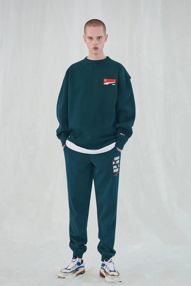 Ader Error x PUMA Spring Summer 2019 Lookbook Sweatshirt Pants Green