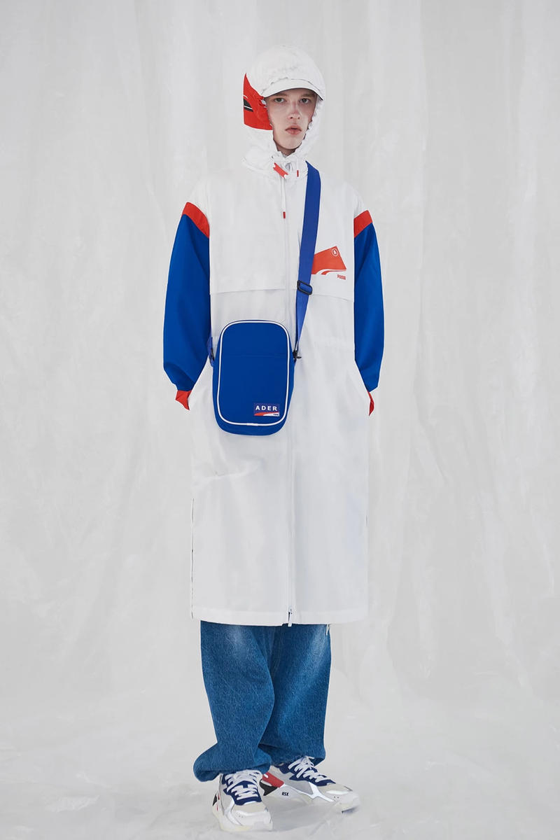 Ader Error x PUMA Spring Summer 2019 Lookbook Jacket White Pants Blue