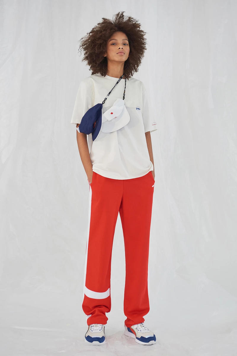 Ader Error x PUMA Spring Summer 2019 Lookbook Shirt White Pants Red