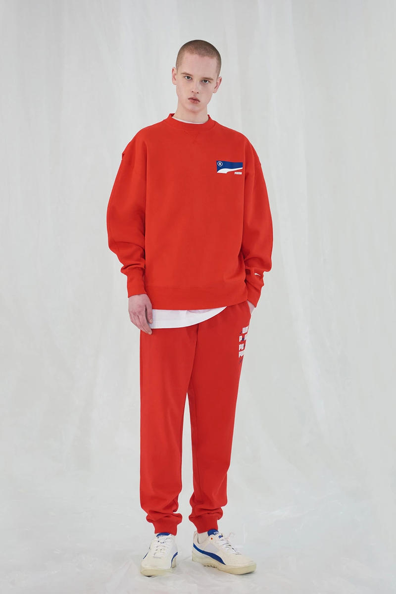 Ader Error x PUMA Spring Summer 2019 Lookbook Sweatshirt Pants Red