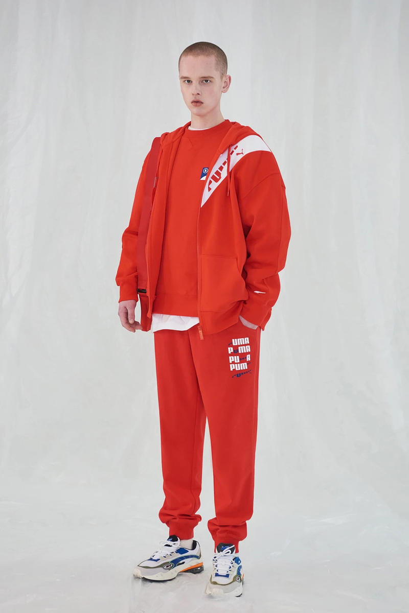 Ader Error x PUMA Spring Summer 2019 Lookbook Sweatshirt Sweatpants Red
