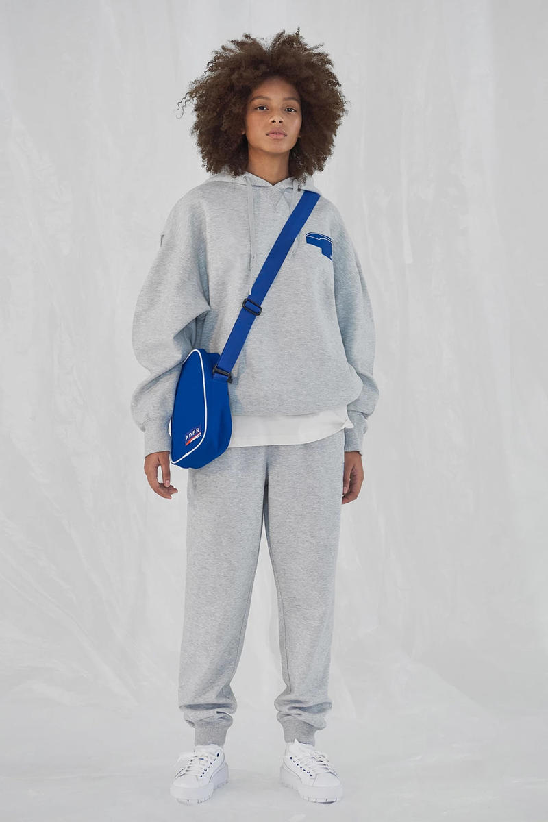 Ader Error x PUMA Spring Summer 2019 Lookbook Sweatshirt Sweatpants Grey