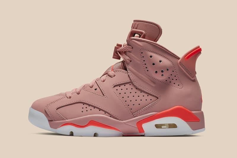 Aleali May x Air Jordan 6 Rust Pink Bright Crimson