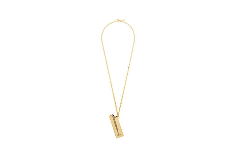 AMBUSH Gold-Tone Lighter Holder Necklace
