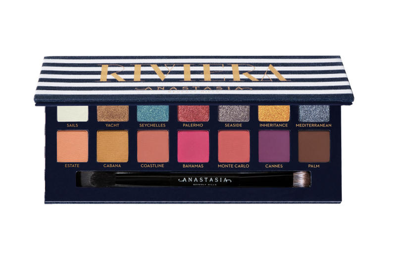 Anastasia Beverly Hills Riviera Eyeshadow Palette Makeup Eye Glam Beauty Shades Release Date