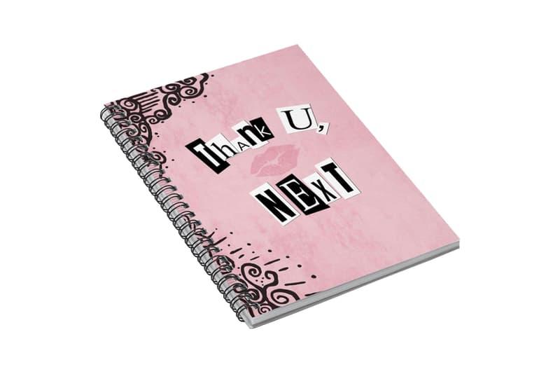 Ariana Grande Merch Drop 2 thank u, next burn book Pink