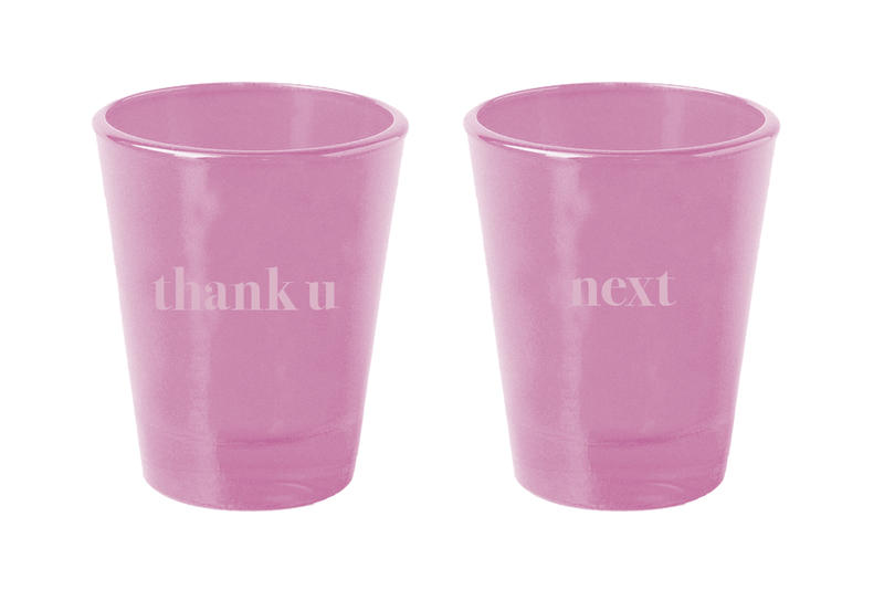 Ariana Grande Merch Drop 2 thank u, next shot glass set Pink