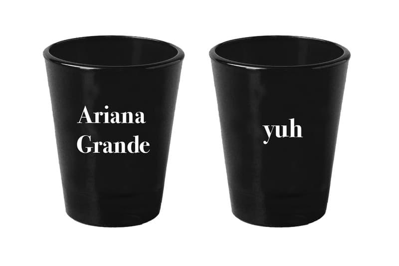Ariana Grande Merch Drop 2 thank u, next shot glass set Black