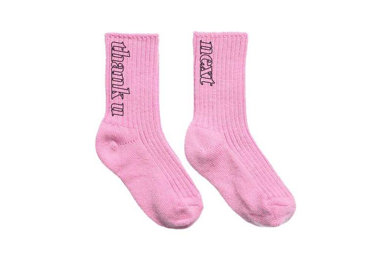 Ariana Grande Merch Drop 2 thank u, next sock pack Pink