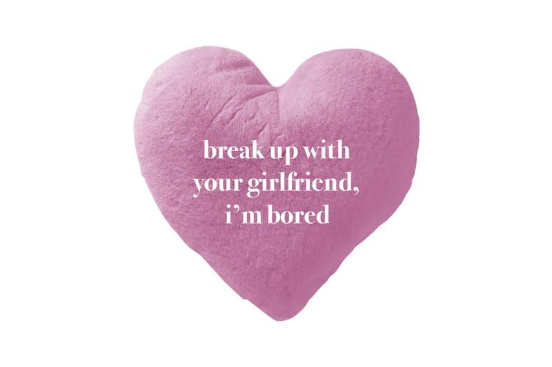 Ariana Grande Merch Drop 2 break up with your gf Pillow Pink