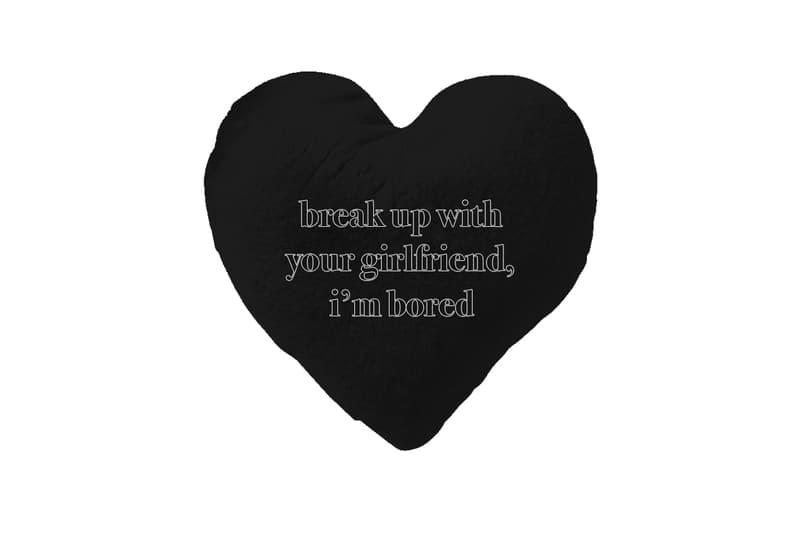 Ariana Grande Merch Drop 2 break up with your gf Pillow Black