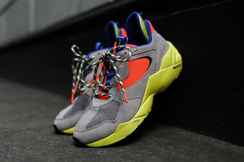 """Arkk Copenhagen Kanetyk """"Ash Neon Lime"""" Review HYPEBAE Kicks Review Sneaker Shoe Colorway Bold"""