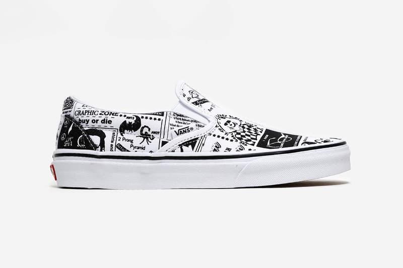 Ashley Williams Vans Era Authentic Style 93 Slip-On Tiger Print Monochrome zine graphic