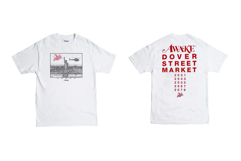 awake ny dover street market dsm chinese new year pig zodiac collaboration tshirt tee