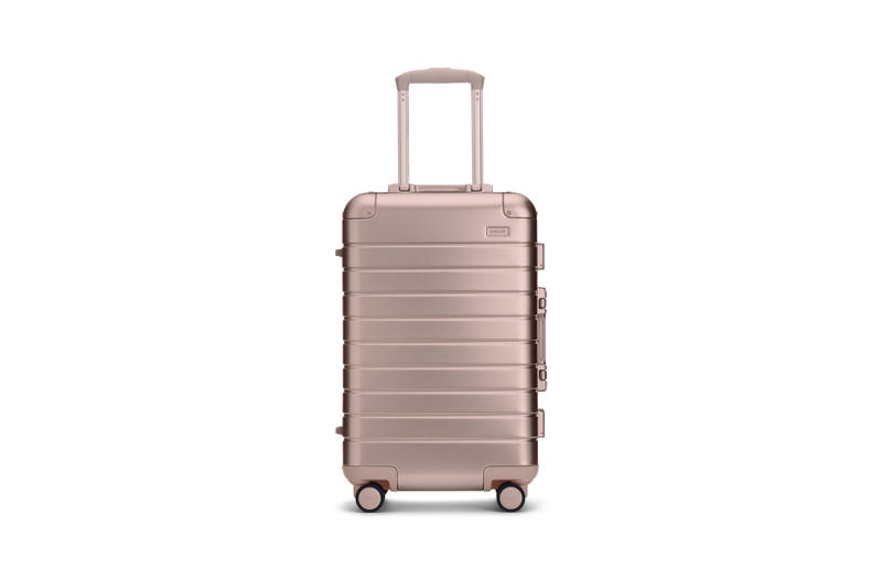 Away Alchemy Collection Suitcases Big Carry On Rose Gold