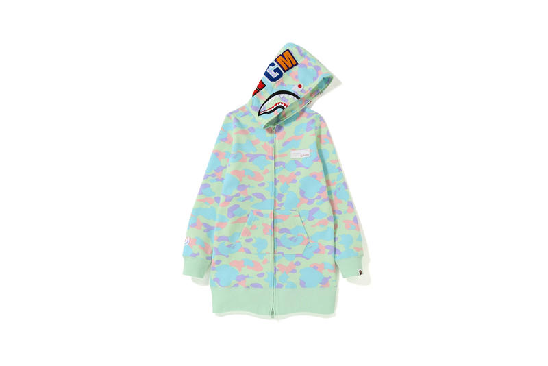 006bcd60879a BAPE Pastel Camouflage Collection Hoodie Green Blue
