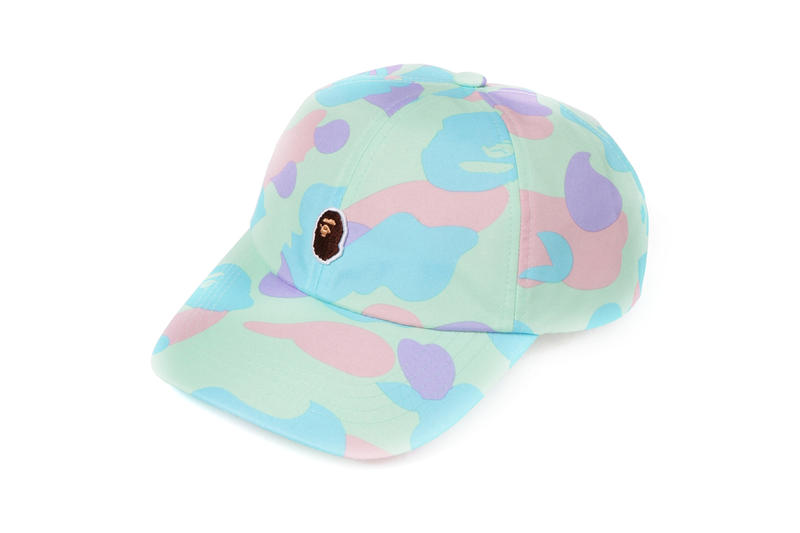 BAPE Pastel Camouflage Collection APE Head Hat Blue Green