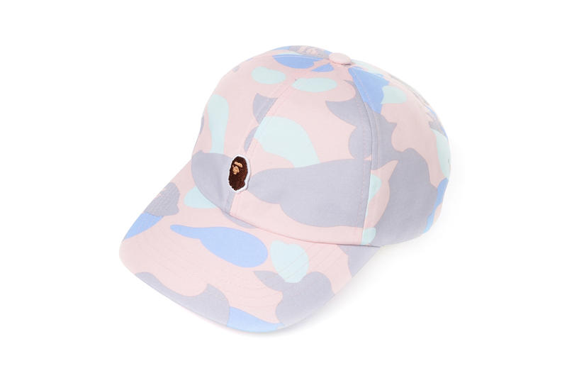 BAPE Pastel Camouflage Collection APE Head Hat Pink Purple