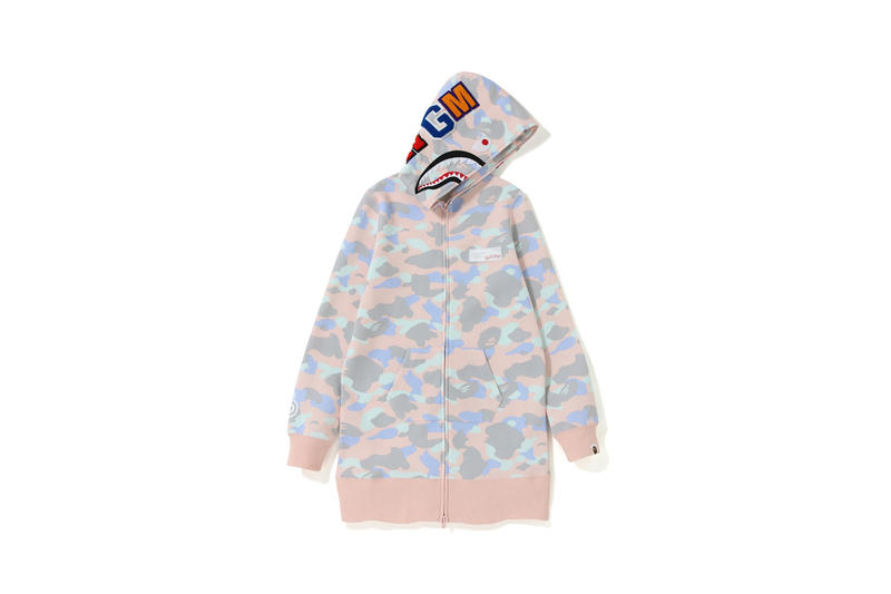 BAPE Pastel Camouflage Collection Hoodie Pink Green Blue